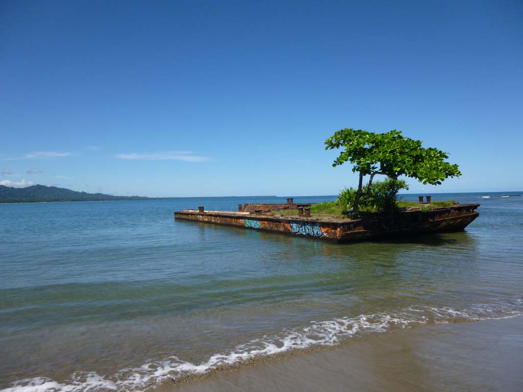 The old barge in Puerto Viejo
