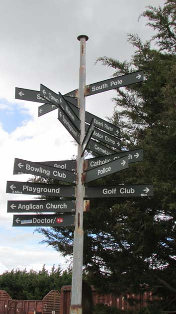 You know you're down under when there are signs for the South Pole