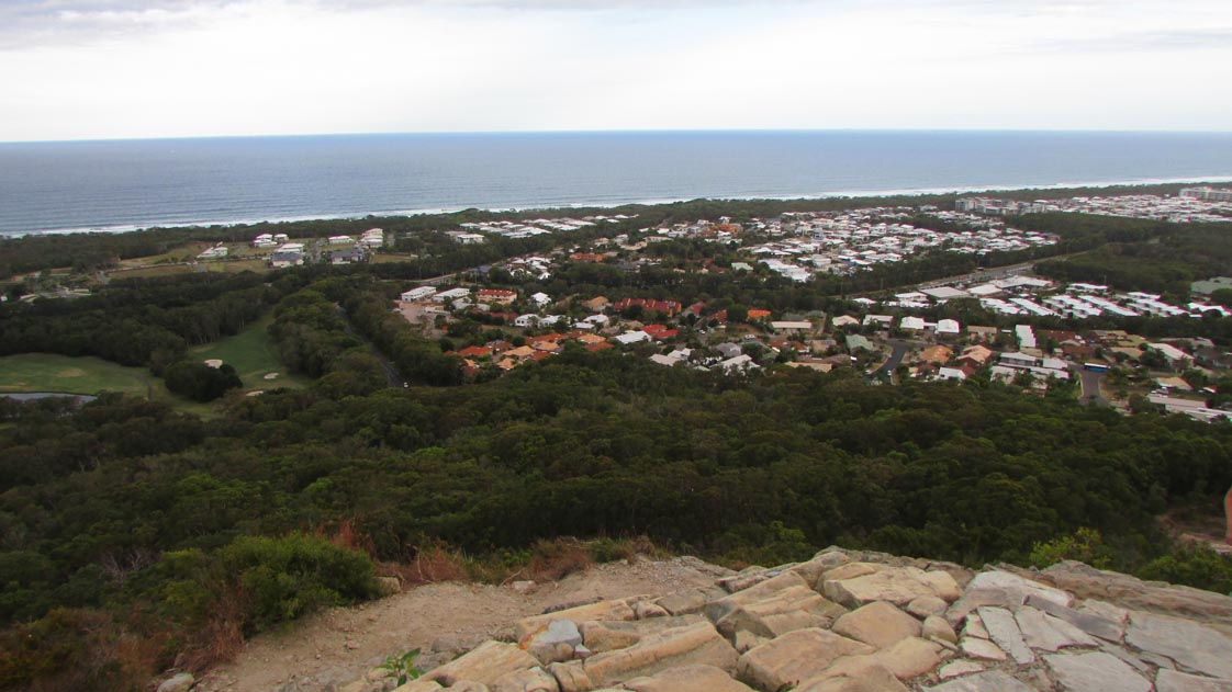 View from the top of Mt. Coolum
