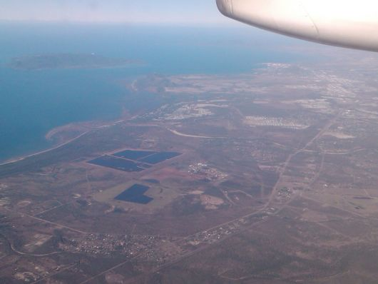 Townsville with Magnetic Island to the west