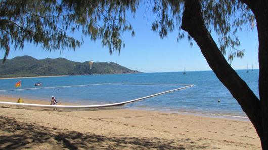 Horseshoe Bay with stinger net set up