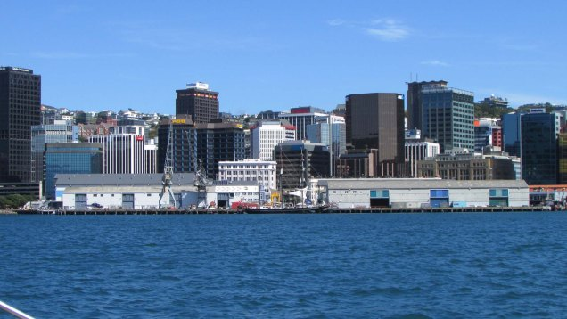 Wellington from the harbour
