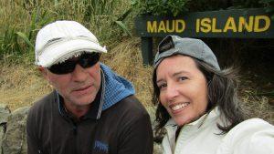 Maud island sign