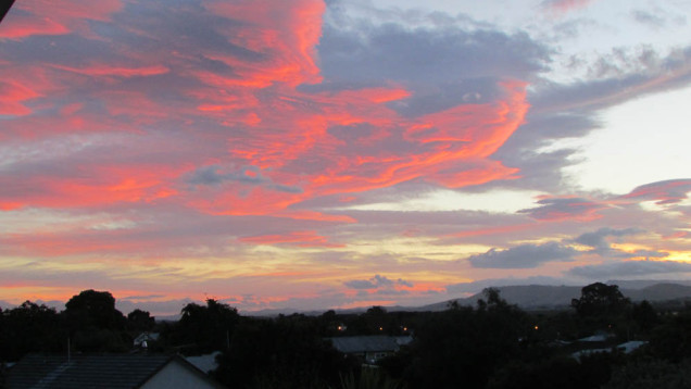 Waipukurau sunset Hawke