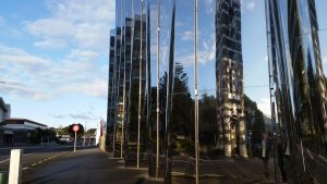 New Plymouth reflection art gallery mirror