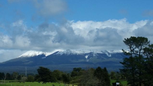 Mount Taranaki clouds