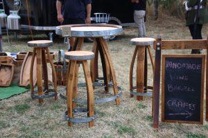 Wine barrel furniture Napier STIM