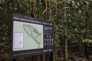 Mary Cairncross trail sign
