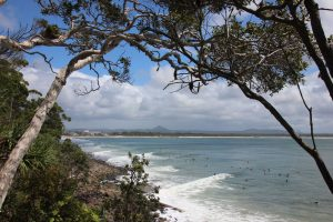 Noosa National Park lookout to mountains