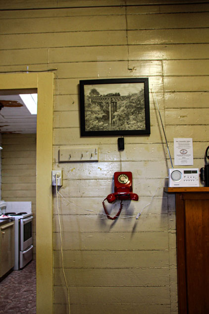 Ormondville train station phone on wall