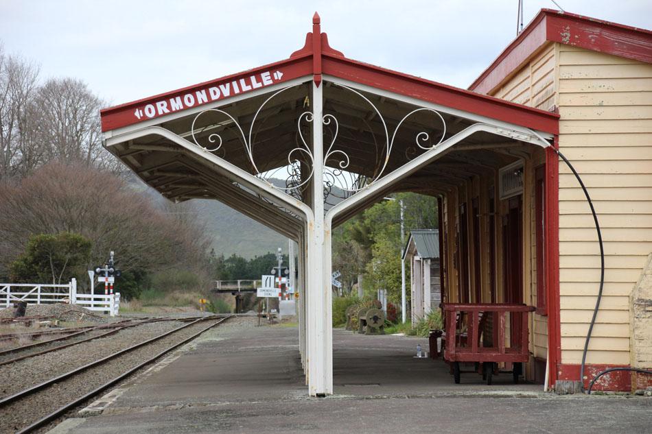Ormondville train station platform